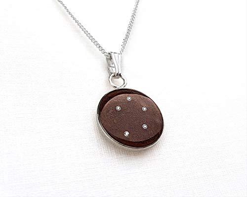 Preisvergleich Produktbild Sternentaler aus Meteoriten 12 mm - Kette mit Sternzeichen Waage