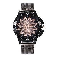 Harilla 女性のラインストーンの腕時計はオフィスの偶然のための偶然の水晶腕時計を見ます - ブラック