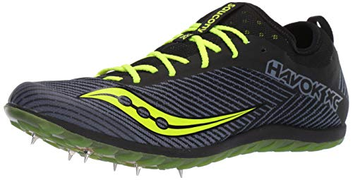 Saucony mens Havok Xc 2 Spike Running Shoe, Black/Citron, 11.5 US