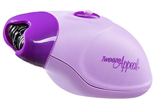 Tweeze Appeal Facial and Bikini Hendheld Hair Remover, Electric Tweezer Epilator