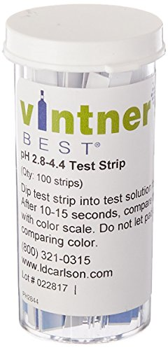 2.8-4.4 Range 100 Strips Wine Making pH Test Strips