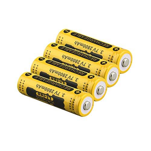 Preisvergleich Produktbild 4pcs 3.7V 2800mah 14500 Batterie Li-Ionen wiederaufladbare Batterie LED Taschenlampe Tragbare Geräte Werkzeuge Beleuchtung Werkzeuge Batterie