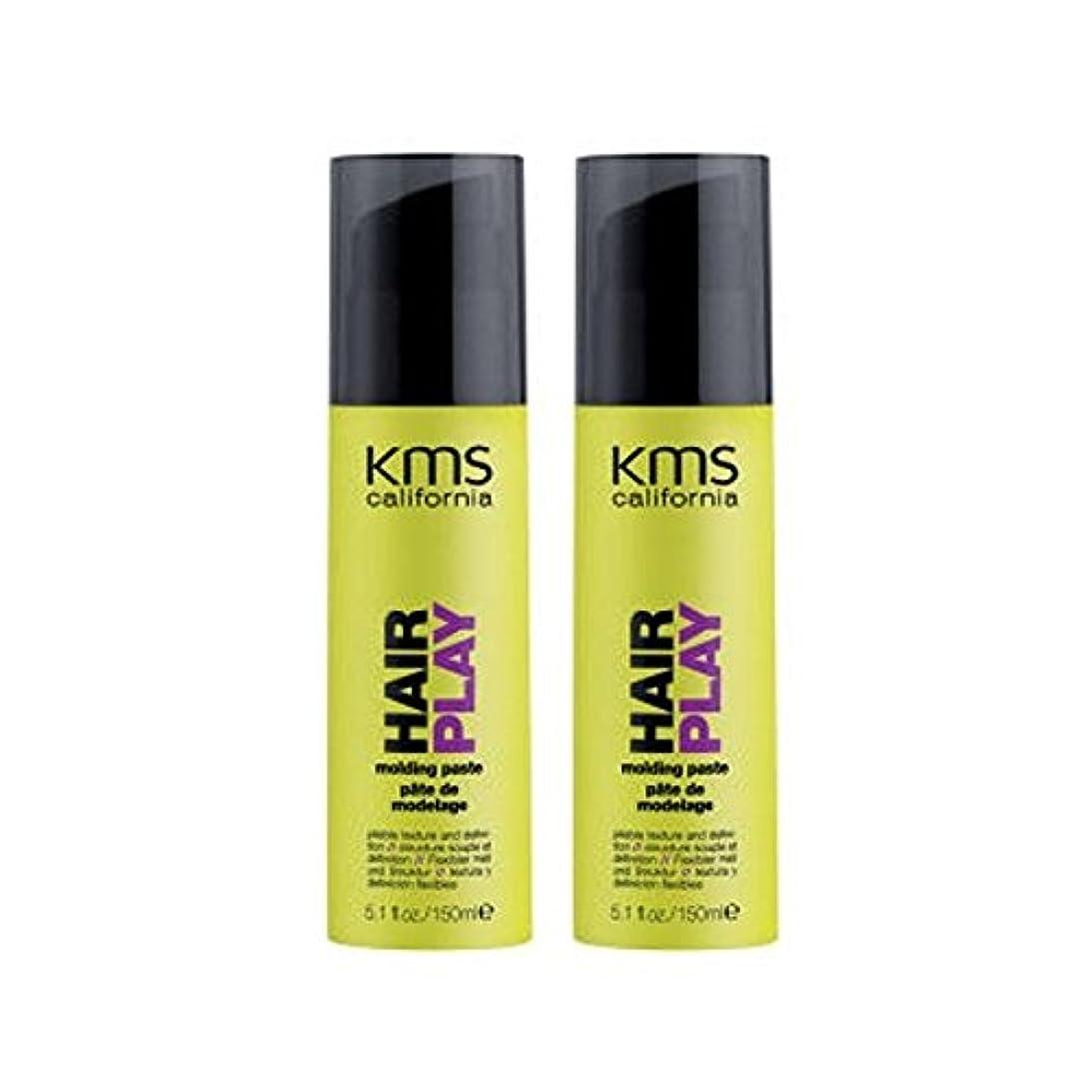 圧力誕生高めるカリフォルニア成形ペーストデュオを x2 - Kms California Hairplay Molding Paste Duo (Pack of 2) [並行輸入品]