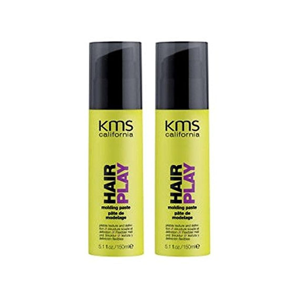 王族委任自由カリフォルニア成形ペーストデュオを x4 - Kms California Hairplay Molding Paste Duo (Pack of 4) [並行輸入品]