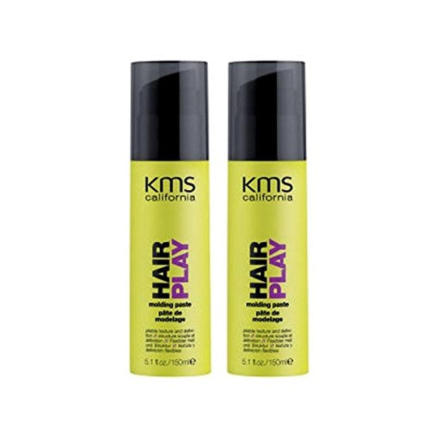 経験的ハードウェアロイヤリティカリフォルニア成形ペーストデュオを x4 - Kms California Hairplay Molding Paste Duo (Pack of 4) [並行輸入品]