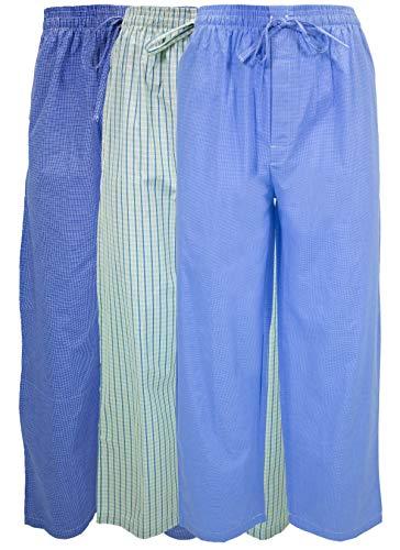 Andrew Scott Men's 3 Pack Super Soft Woven Pajama & Sleep Long Lounge Pants (X-Large, 3 Pack - Assorted Brilliant Plaids)