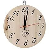 Duokon Holz Wanduhr Analog Runde Uhr 8in Sauna Uhr Dekorative Sanduhr Uhr für Sauna Zubehör Sauna Wohnkultur