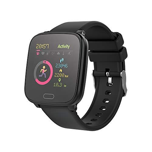 FOREVER GO JW-100 - Reloj inteligente para niños, con hora, fecha, gestión de música, alarma, color negro