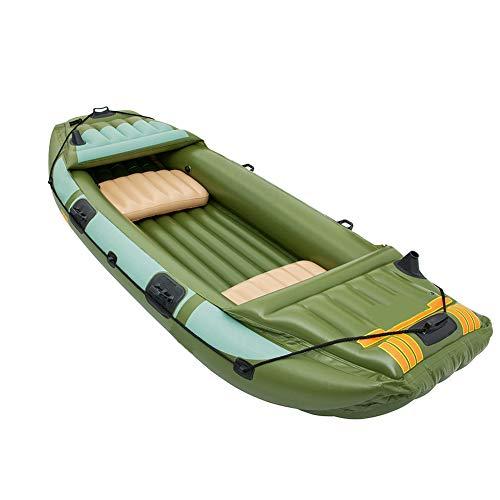 BOATb Bote Inflable El Bote Inflable Fijó La Canoa De 3 Personas con Los Deportes Acuáticos De La Paleta, Los 316 * 124Cm