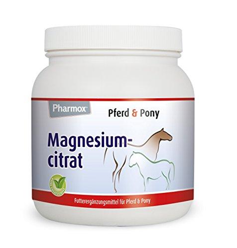 Pharmox Pferd & Pony Magnesiumcitrat (500 Gramm) 100% aus reinem Magnesiumcitrat ohne Zusätze - Für nervöse Pferde
