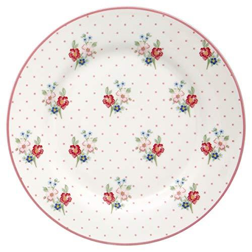 GreenGate Teller EJA Weiß 20 cm Porzellan Geschirr Kuchenteller Dessertteller