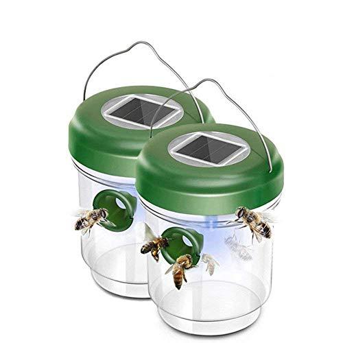 ANFAY Solarenergie Fruchtfliegerfalle Wespe Insekten Fallen Gehisst Flieger Fänger LED Insekten Fallen IP4 Wasserdicht Umweltschutz Wieder Verwendet Werden Können,2PCS
