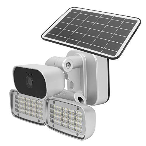 Monitor de Patio Lámpara de jardín Conexión de Varios Dispositivos Visión Nocturna Almacenamiento en la Nube Cámara Solar para el jardín del hogar Seguridad(European Version)
