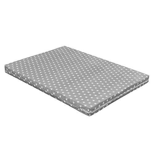Baby Delux Matratze für Laufgitter Laufstall 75x100 cm Grey Stars