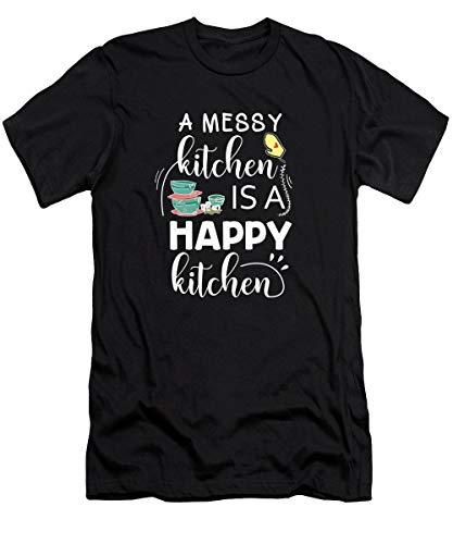 A MES.SY Kitchen Is A Happy Kitchen Cook Cooking T-Shirt - T Shirt for Men And Women.