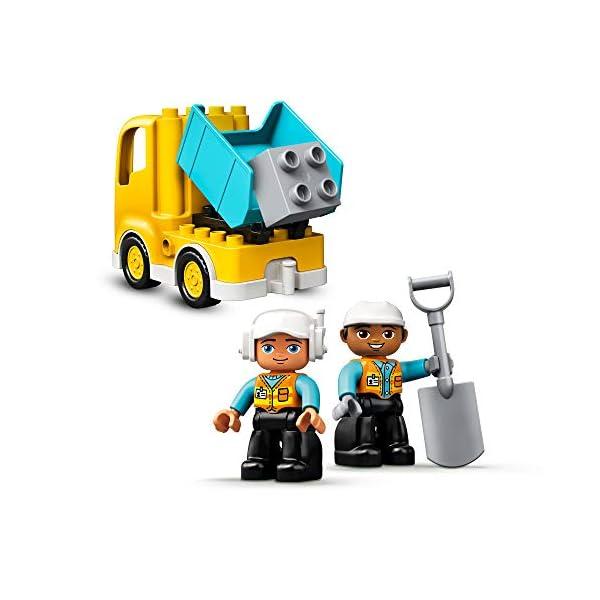 DUPLO Town DUPLO Construction Camión y Excavadora con Orugas Vehículo de Construcción de Juguete Set para Niños Pequeños…
