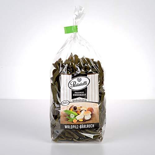 Pastatelli Bärlauch Waldpilz Nudeln - Bärlauchnudeln mit Waldpilzen - Gewürznudeln mit getrocknetem Bärlauch und Pilzen - Mit Butterpilze Steinpilze Herbsttrompeten