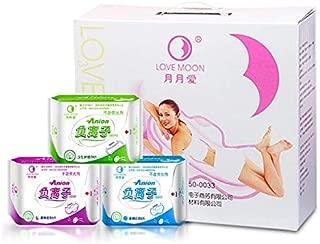 Winalite Lovemoon Sanitary Pads Anion Pads Feminine Hygiene Anion Sanitary Napkin Organic Cotton Love Moon Anion 19 Packs/lot