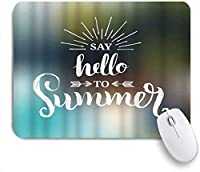 NIESIKKLAマウスパッド 夏のお楽しみ引用デザインロゴラベル夏休み旅行自然 ゲーミング オフィス最適 高級感 おしゃれ 防水 耐久性が良い 滑り止めゴム底 ゲーミングなど適用 用ノートブックコンピュータマウスマット