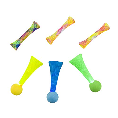 SPOT Ethical Pet Catnip Cat or Kitten Toy, Colorful Fun Tubes. Interactive Bouncy cat Toy, Assorted Color