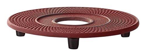 Bredemeijer Untersetzer INBG005R, Inoxidable, Rot, 13.4 x 13.4 x 1.7 cm