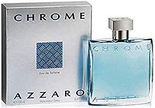 Azzãrŏ Chrŏmė Cologne for Men 3.4 fl. Oz /100 ml Eau De Toilette Spray