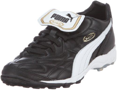 Puma King Allround TT, Herren Fußballschuhe, Schwarz (black-white-team gold 01), 45 EU (10.5 Herren UK)