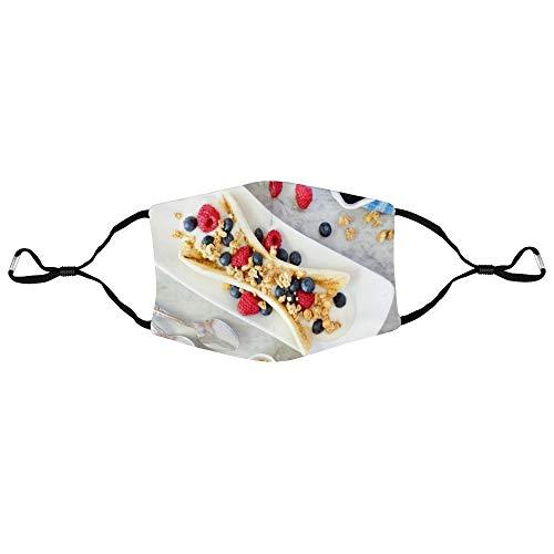 Dkisee Fashion Unisex Gesichtsmaske Joghurt Obst Anti-Staub Mundmaske Verstellbare Ohrschlaufe Gesichtsmaske Outdoor Schutzmaske