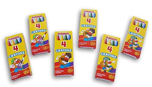 Mr. Spud Head Party Favor Miniature Crayon Boxes -Toy Story Potato - 6 Count
