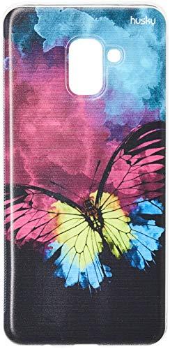 Capa Personalizada para Galaxy A8 Plus (2018) - Borboleta Color, Husky, Proteção Completa (Carcaça+Tela), Colorido