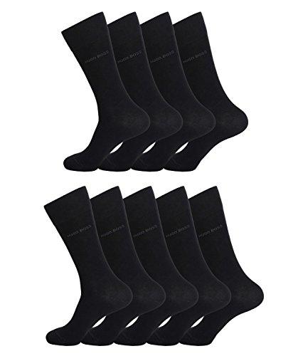 BOSS HUGO Herren Socken Strümpfe Business Allround RS SP 50388453 9 Paar, Farbe:Schwarz, Größe:43-46, Artikel:-001 black_A