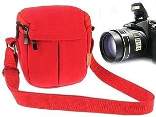 BBGSFDC Bolsa de Lona de cámara Digital portátil con Correa, tamaño: 13.5cm x 9cm x 14 cm (Color : Red)