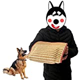 YUNDING Dog Bite Wedge Bite Pillow con 3 Asas De Tracción Juguete De Entrenamiento Funda Protectora De Brazo para Mordedura De Perro Yute/Lino
