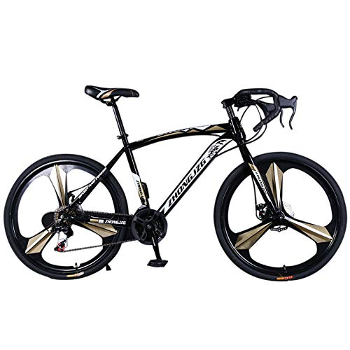 ZARUP 【US Stock】 Mountain Bike Outdoor Sports, 700c Sports Bike Variable Speed Mountain Road Bike Double Disc Brake Bicycle Suitable for Men and Women Cycling Enthusiasts (B)