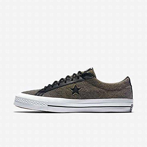Converse Unisex One Star Woolrich Ox Jute/Herb/Black 154036C 5 Men/Women 7