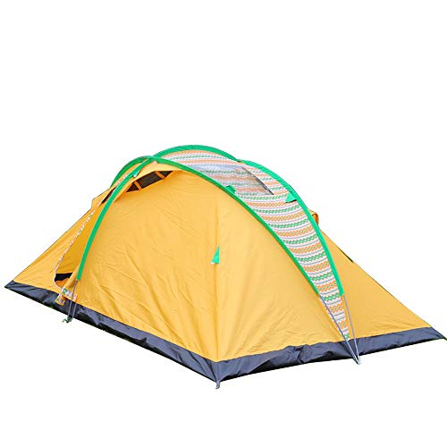 Outdoor Multifunctional Tent with Storage Bag, Single Layer Breathable Waterproof Camping Tent, for Beach Festival Family Camping Hiking Garden Fishing Picnic, 420 * 240 * 160cm, Orange
