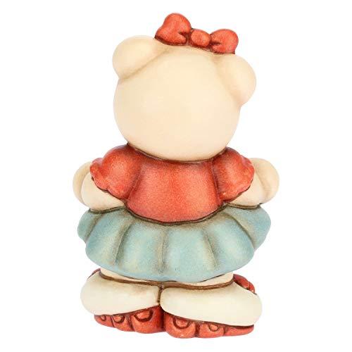 THUN - Soprammobile Teddy Bimba sui Pattini - Bomboniera - Cameretta Bambini - Linea I Classici - Formato Piccolo - Ceramica - 7,3 h cm