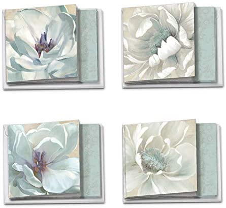 The Best Card Company Peaceful Petals 12 Blank All Occasion Note Cards 4 x 5 12 Inch Assorted product image