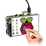 ELECROW 4インチ モニター Raspberry Pi用 モバイルモニター 4インチ タッチパネルモニター LCD ディスプレイ ポータブルモニター 冷却ファン付き 800*480 液晶モニター Raspberry Pi 4B 3B+ 3B 対応 ゲームモニター 安心保証1年付き