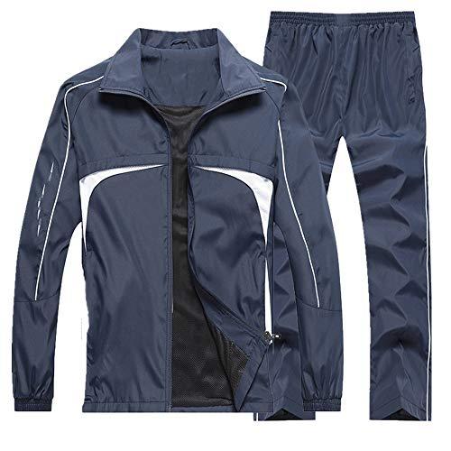 Los hombres corrientes conjuntos otoño conjunto outwear ropa deportiva al aire libre jogging deporte traje chaqueta pantalón sudor traje