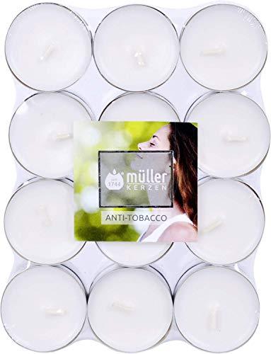 24er Duftteelicht von Müller Kerzenfabrik, neue Düfte, Duftrichtung:Anti Tabak