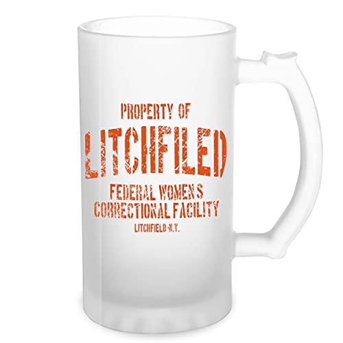 Litchfield Prison Inspired Orange Is The New Black Transparente taza de Stein de la cerveza 0.5L