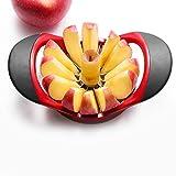 Taglia Mele, Affettatrice Mele macchina da taglio in PP + acciaio inossidabile,12 fette di macchina da taglio per mele e pere, macchina da taglio per frutta a doppia impugnatura.