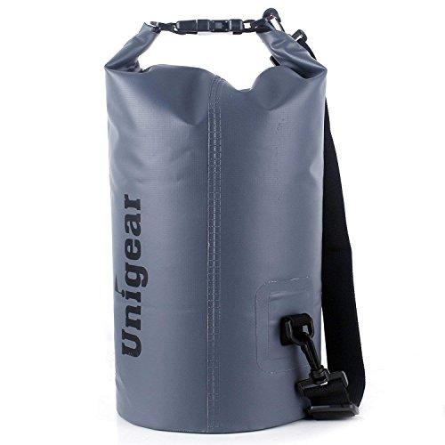 Unigear Borsa Impermeabile, Sacche Impermeabili Dry Bag per Trekking, Kayak, Pesca, Rafting, Campeggio, Sci con Omaggio Gratuito di Una Custodia Telefono Impermeabile