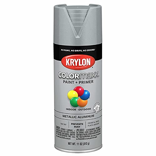 Krylon K05587007 COLORmaxx Spray Paint and Primer for Indoor/Outdoor Use,...