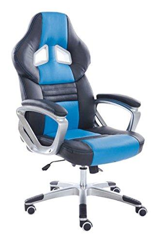 YAKOE, Sedia da Ufficio con Design Unico, con Funzione di inclinazione, in Finta Pelle
