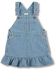[ブランシェス] 裾フリル デニム ジャンパースカート 女の子 キッズ ガールズ ジャンスカ ワンピース