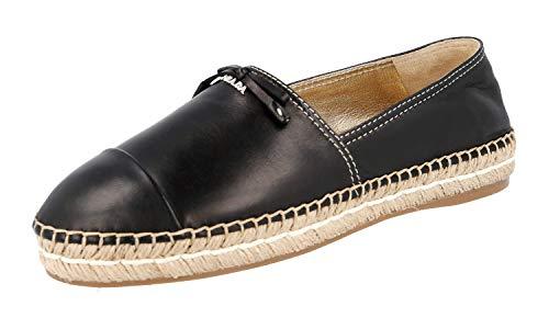 Prada Damen Schwarz Leder Schuhe 1S740F 038 F0002 37.5 EU