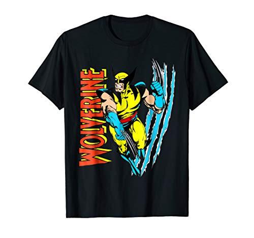 Marvel X-Men Wolverine Vintage Claw Slice Graphic T-Shirt