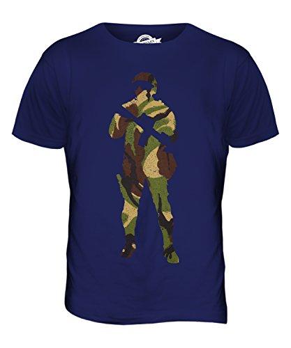 Candymix - Camiseta de manga corta para hombre, diseño de camuflaje británico Azul azul marino XS